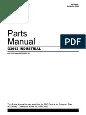 Manual Parts Cat 3612 | Machines | Engines