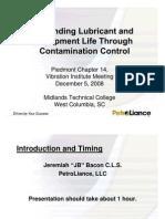 Bearings Contaminations Control