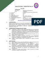 Silabo Ingenieria III 2012- II