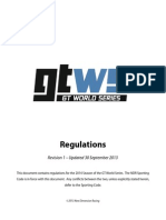 GT World Series 2014 Rules Book