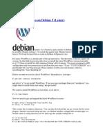 Install Wordpress Di Debian linux