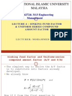 Lec 4-Eng Economy - Sinking Fund Factor and Uniform- mme3109