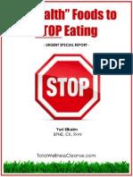 3 Health Foods to Stop Eating - free rebrandable ebook