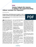 Must The Contractor Submit His Interim 