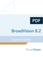BroadVision 8.2 Content Guide