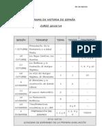 PROGRAMA DE HISTORIA DE ESPAÑA CURSO 2013