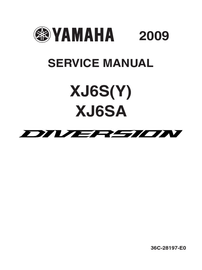 Yamaha Xj6 2009 Service Manual Ingls Yamahaclubcombr Digital Tachometer Wiring Diagram Free Download Anti Lock Braking System Fuel Injection