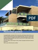 Photovoltaic guardrail