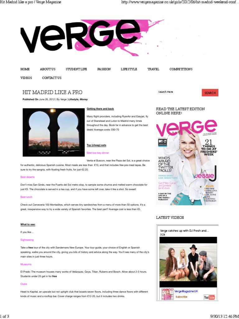 Hit madrid like a pro verge magazine madrid twitter fandeluxe Images