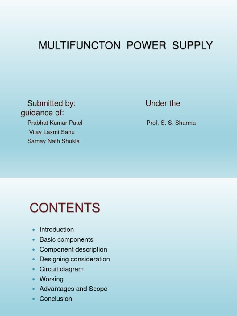 multifunction power supply for embedded system | Power Supply ...