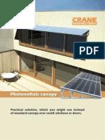 Photovoltaic canopy