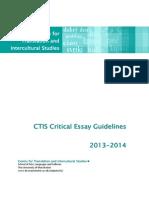 CTIS Critical Essay Guidelines 2013-2014