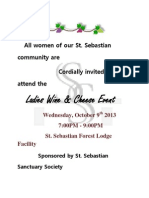 Ladies Wine & Cheese Event for Sanctuary Society 2013