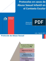 Protocolos en Caso de Abuso Sexual 2013