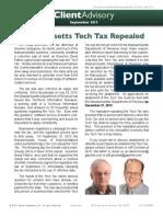 Massachusetts Tech Tax Repealed