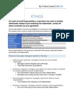 Ethics importance