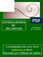 CLASE 10. GENERALIDADES DE HELMINTOS