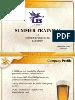 summer training presentation at UNITED BREWERIES LTD.  LUDHIANA