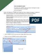 Numeração de páginas para documentos ABNT