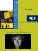 'Psycho' Trailer analysis