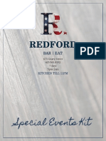 Redford Special Events Kit 2013