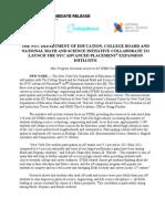 Press Release NYCDOE