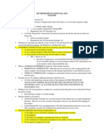 Securities Regulations Outline_2011 Fallone