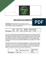 Analysis of L&T