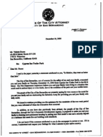 Letter dated December 20, 2000 from City Attorney James F. Penman, to Valente Duran