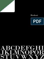 Bodoni Typeface Book