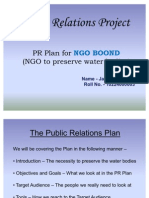 Public Relations Plan Project