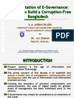 E Governance in BANGLADESH to fight Corruption  S A AHSAN RAJON
