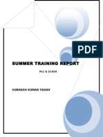 Plc & Scada Summer Training Report