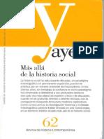 De La Historia Social a La Historia de Lo Social