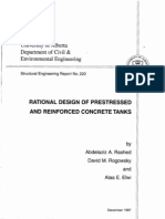 Rational Design of Prestressed and Reinforced Concrete Tanks by AA Rashed DM Rogowsky AE Elwi (1997)