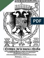 Crónica de la Nueva España Parte I