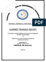 Ofc Summer Training Report