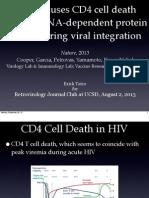 Retrovirology Journal Club Presentation at UCSD by Erick Tatro