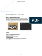 Gold Achievement Pack User Guide