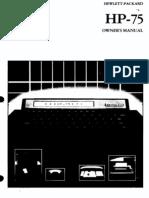 HP 75 Owner's Handbook