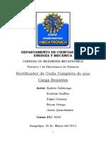 Práctica 1 - Rectificador OC con Carga R