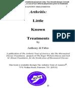 Arthritis Little Known Treatments