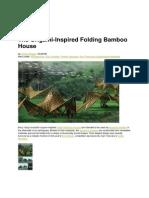 Foldable Bamboo House