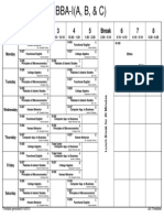 Updated Time Table (Class-Wise) Fall 2013