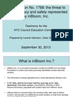 InBloom Presentation Updated 9.30.13