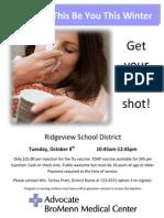 Flu Shots - October 8