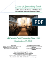 St. Rita Parish Bulletin 9/29/2013