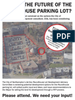 Public Forum on Roundhouse Parking Lot