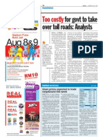 thesun 2009-07-06 page14 too costly for govt to take over toll roads analysts