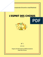 L'Esprit Des Choses n. 1 2013